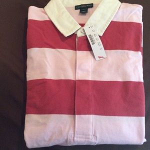 J crew 1984 rugby shirt in stripe.  Long sleeve